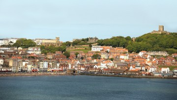 Stunning Scarborough - View from The Spa, across to Scarborough Castle and St. Marys church